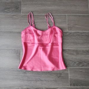 NWT Wet Seal Pink Silk Camisole - Size M
